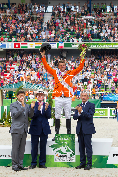 Jeroen Dubbeldam and Zenith SFN World Champion Jumping - Show Jumping Final Four - Alltech FEI World Equestrian Games™ 2014 - Normandy, France.<br /> © Hippo Foto Team - Leanjo de Koster<br /> 07-09-14