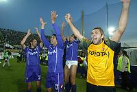 Firenze 20-11-2005<br />Campionato  Serie A Tim 2005-2006<br />Fiorentina Milan<br />nella  foto esultanza Frey<br />Foto Snapshot / Graffiti