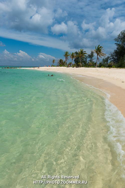 Crystal clear water of Andaman sea on Ko Lipe island beach, Thailand
