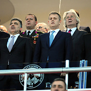 Turkish President Abdullah GUL (front row 2ndL) during their Turkey Cup final match Besiktas between Istanbul BB at the Kadir Has Arena at Kayseri Turkey on wednesday, 11 May 2011. Photo by TURKPIX