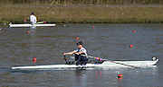Caversham  Great Britain.<br /> GBR LW1X Charlotte TAYLOR, starts her run at the 2016 GBR Rowing Team Olympic Trials GBR Rowing Training Centre, Nr Reading  England.<br /> <br /> Tuesday  22/03/2016 <br /> <br /> [Mandatory Credit; Peter Spurrier/Intersport-images]