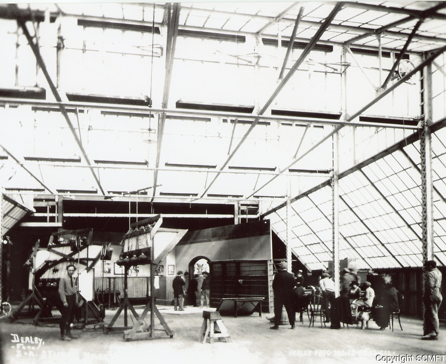 1914 Glass enclosed set at Essanay Film Manufacturing Co. in Niles, CA