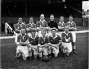 28/08/1952.08/28/1952.28 August 1952.Soccer, City Cup Semi Final at Dalymount Park, Drumcondra v Cork Athletic. The Cork team.