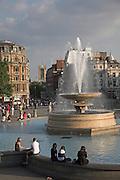 Fountain, Trafalgar Square, London, England