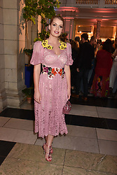 """Lady Kitty Spencer at the opening of """"Frida Kahlo: Making Her Self Up"""" Exhibition at the V&A Museum, London England. 13 June 2018."""