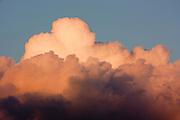 Cloud patterns at sunset