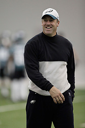 May 3 2009: Philadelphia Eagles Offensive Quality Control Coach Doug Pederson during the Philadelphia Eagles Mini Camp at The Novacare Complex in Philadelphia, Pennsylvania