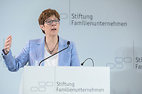 28 JUN 2019, BERLIN/GERMANY:<br /> Annegret Kramp-Karrenbauer, CDU Parteivorsitzende, haelt eine Rede auf dem Tag des Deutschen Familienunternehmens, Hotel Adlon<br /> IMAGE: 20190628-01-058<br /> KEYWORDS: AKK
