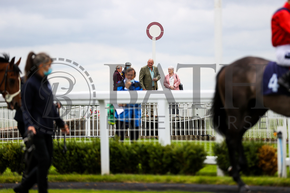 Owners back at the track ahead of the 12:30 attheraces.com Maiden Auction Stakes - Rogan/JMP - 14/07/2020 - HORSE RACING - Bath Racecourse - Bath, England.