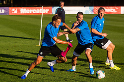 Jure Balkovec and Tim Matavz during practice session of Slovenian national football team in national football center in Brdo, 2nd of September, 2019, NNC Brdo. Photo by Grega Valancic / Sportida