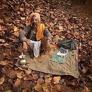 A Sadhu in the jungle.
