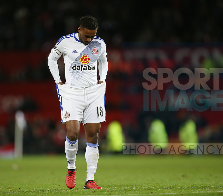Sunderland's Jermain Defoe looks on dejected during the Premier League match at Old Trafford Stadium, London. Picture date December 26th, 2016 Pic David Klein/Sportimage