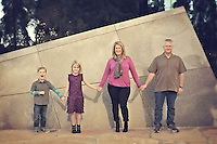 13 December 2014:  Cliff, Amy, Paige and Colby Ranney family in Costa Mesa, CA.