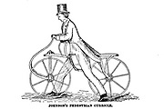 Johnson's Pedestrian Curricle [Early pedal-less bicycle] The American bicycler: a manual for the observer, the learner, and the expert by Pratt, Charles E. (Charles Eadward), 1845-1898. Publication date 1879. Publisher Boston, Houghton, Osgood and company