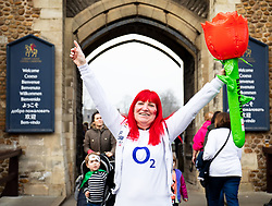 An England fan enjoying the pre match atmosphere<br /> <br /> Photographer Simon King/Replay Images<br /> <br /> Six Nations Round 3 - Wales v England - Saturday 23rd February 2019 - Principality Stadium - Cardiff<br /> <br /> World Copyright © Replay Images . All rights reserved. info@replayimages.co.uk - http://replayimages.co.uk