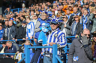 Sheffield Wednesday fans after the second goal during the Sky Bet Championship match between Sheffield Wednesday and Cardiff City at Hillsborough, Sheffield, England on 30 April 2016. Photo by Phil Duncan.