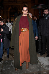 Bianca Brandolini D'Adda arriving at Valentino fashion show during Paris Fashion Week Haute Couture Spring Summer 2020 on January 23, 2019 in Paris, France.