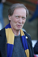 Erik Samuelson, the AFC Wimbledon chairmen looks on before k/o. Skybet football league two play off semi final, 1st leg match, AFC Wimbledon v Accrington Stanley at the Cherry Red Records Stadium in Kingston upon Thames, Surrey on Saturday 14th May 2016.<br /> pic by John Patrick Fletcher, Andrew Orchard sports photography.