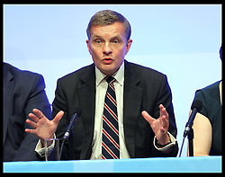Welsh Secretary David Jones speaking at the Conservative Party Conference in Birmingham,Monday, 8th October October 2012. Photo by: Stephen Lock / i-Images