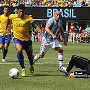 Hulk, Brazil, in action during the Brazil V Argentina International Football Friendly match at MetLife Stadium, East Rutherford, New Jersey, USA. 9th June 2012. Photo Tim Clayton