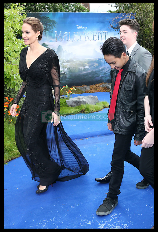 May 8, 2014 - London, England, United Kingdom - Angelina Jolie and  Maddox Jolie-Pitt  arriving at a display of costumes from the film Maleficent at Kensington Palace in London,  Thursday, 8th May 2014. Picture by Stephen Lock / i-Images (Credit Image: © Stephen Lock/i-Images/ZUMAPRESS.com)