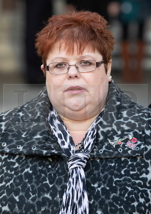 © Licensed to London News Pictures. 11/12/2019. London, UK. SarahJane Young, relative of Jeffrey Young - who was killed in the Hyde Park bombing in 1982, arrives at The High Court where a civil case against convicted IRA member John Downey is going ahead. A previous criminal case against Downey at The Old Bailey collapsed in 2014 after it emerged he had received a so-called 'on the run' letter dating back to 2007 as part of the Good Friday Agreement peace deal. The Hyde Park bombing in July 1982 killed Squadron Quartermaster Corporal Roy Bright, Lieutenant Anthony Daly, Lance Corporal Jeffrey Young and Trooper Simon Tipper. Photo credit: Peter Macdiarmid/LNP