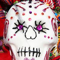 Mexico. Decorated Sugar Skull for Dia de Los Muertos.
