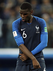 Paul Pogba of France during the 2018 FIFA World Cup Semi Final match between France and Belgium at the Saint Petersburg Stadium on June 26, 2018 in Saint Petersburg, Russia