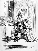 Nicholas II Tsar of Russia, surrounded by petitions for reform in 1914