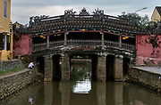 Japanese Covered Bridge, Hoi An. Hoi An Town is an exceptionally well-preserved example of a Southeast Asian trading port dating from the 15th to the 19th century. Its ochre coloured buildings and its street plan reflect the influences, both indigenous and foreign, that have combined to produce this UNESCO world heritage site.