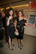 JESICA MORRIS AND SERENA REES, V and A celebrates 150th anniversary. V and A. London. 26 June 2007.  -DO NOT ARCHIVE-© Copyright Photograph by Dafydd Jones. 248 Clapham Rd. London SW9 0PZ. Tel 0207 820 0771. www.dafjones.com.