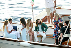 Guests arrive at Riccio restaurant where the pre-wedding party for Heidi Klum and Tom Kaulitz is due to be held ahead of the couple's second wedding ceremony this weekend.<br /><br />2 August 2019.<br /><br />Please byline: Vantagenews.com