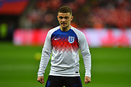 Kieran Trippier of England warming up before the UEFA European 2020 Qualifier match between England and Czech Republic at Wembley Stadium, London, England on 22 March 2019.