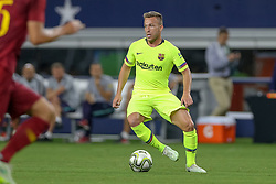 July 31, 2018 - Arlington, TX, U.S. - ARLINGTON, TX - JULY 31: FC Barcelona midfielder Arthur Melo (4) controls the ball during the International Champions Cup between FC Barcelona and AS Roma on July 31, 2018 at AT&T Stadium in Arlington, TX.  (Photo by Andrew Dieb/Icon Sportswire) (Credit Image: © Andrew Dieb/Icon SMI via ZUMA Press)
