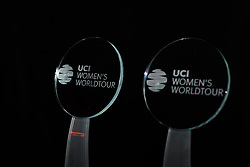 Trophies at The UCI Cycling Gala 2018 in Guilin, China on October 21, 2018. Photo by Sean Robinson/velofocus.com