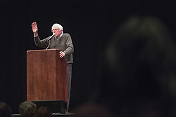 December 2, 2016 - Berkeley, United States - U.S. Senator Bernie Sanders discusses his book ''Our Revolution'' to a crowd at University of California Berkeley's Zellerbach Auditorium on December 2, 2016. (Credit Image: © Yichuan Cao/NurPhoto via ZUMA Press)