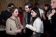 ESME HORSELL; RICHARD DENNEN; ASSISI JACKSON, The Dowager Duchess od Devonshire and Catherine Ostler editor of the Tatler host a party to celebrate Penguin's reissue of Nancy Mitford's ' Wigs on the Green.'  The French Salon. Claridge's. London. 10 March 2010.