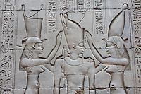 Egypte, Haute Egypte, vallée du Nil, Edfou, temple dédié au dieu Horus // Egypt, Nile Valley, Edfou, Horus temple