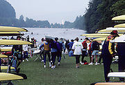 Lucerne, SWITZERLAND.  General view of the Rottsee course from the boat storage area. 1992 FISA World Cup Regatta, Lucerne. Lake Rotsee.  [Mandatory Credit: Peter Spurrier: Intersport Images] 1992 Lucerne International Regatta and World Cup, Switzerland