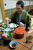 Japanese Ryokan Inn Dinner