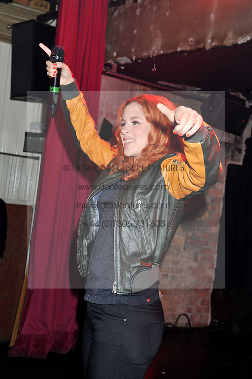 Singer KATY B at a party tocelebrate the launch of Diesel's new female fragrance 'Loverdose' held at The Box, 11-12 Walkers Court, Brewer Street, London on 7th September 2011.