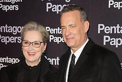 Meryl Streep and Tom Hanks attends the 'Pentagon Papers' Paris film premiere at UGC Normandie cinema on January 14, 2018 in Paris, France. Photo by Nasser Berzane/ABACAPRESS.COM