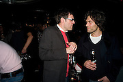 DEXTER DALWOOD; BARRY REIGATE, Cloak and Dagger, - Amanda Eliasch - book launch - Entertainment by Miss Polly Rae and her Hurly Burly girls. <br />Soho Revue Bar, 11-12 Walkers Court, London *** Local Caption *** -DO NOT ARCHIVE-© Copyright Photograph by Dafydd Jones. 248 Clapham Rd. London SW9 0PZ. Tel 0207 820 0771. www.dafjones.com.