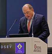 London, United Kingdom - 11 September 2019<br /> The Rt Hon Ben Wallace MP. Secretary of State for Defence for the UK Government presents keynote address speech to audience at DSEI 2019 security, defence and arms fair at ExCeL London exhibition centre.<br /> (photo by: HAUSARTS / EQUINOXFEATURES.COM)<br /> Picture Data:<br /> Photographer: Hausarts<br /> Copyright: ©2019 Equinox Licensing Ltd. +443700 780000<br /> Contact: Equinox Features<br /> Date Taken: 20190911<br /> Time Taken: 12352023<br /> www.newspics.com
