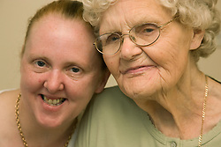 Portrait of a Grandmother and her granddaughter,