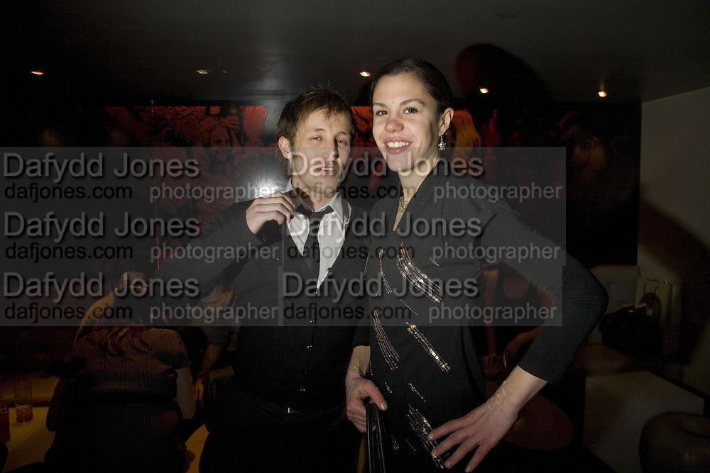 ANDY JONES AND ZOE GRIFFIN., Party to launch CARAT a new diamond brand, Kitts. Sloane sq. London. 20 December 2007.  -DO NOT ARCHIVE-© Copyright Photograph by Dafydd Jones. 248 Clapham Rd. London SW9 0PZ. Tel 0207 820 0771. www.dafjones.com.