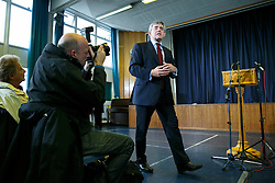 "© Licensed to London News Pictures. 20/09/2014. Fife, UK. Former Prime Minister Gordon Brown delivers a speech on impact of ""no"" vote in Scottish referendum at Dalgety Bay Primary School in Fife, Scotland on Saturday, 20 September 2014. Photo credit : Tolga Akmen/LNP"
