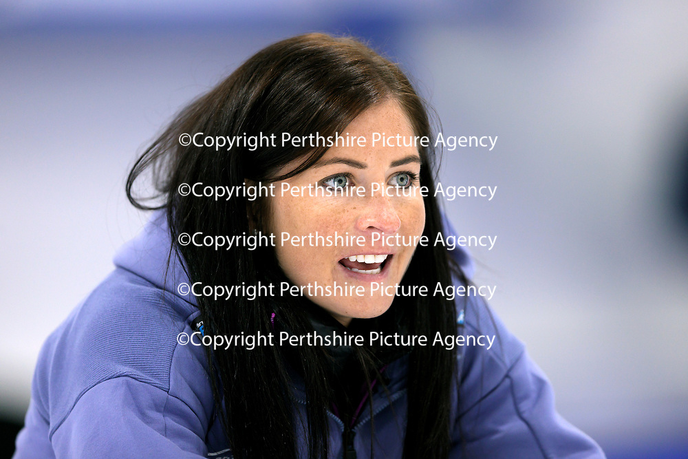 Euro Super Series Curling Finals....<br />Eve Muirhead<br />Picture by Graeme Hart.<br />Copyright Perthshire Picture Agency<br />Tel: 01738 623350  Mobile: 07990 594431