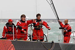 © Sander van der Borch.Alicante, 11 October 2008. Start of the Volvo Ocean Race.Andrew Cape and Jonathan McKee discussing tactical options before the start.
