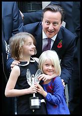 OCT 30 2012 David Cameron with Pride of Britain Award winners